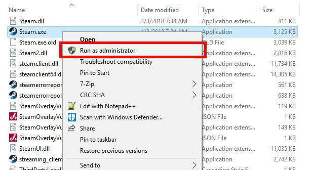 Disable the administrator mode for the game