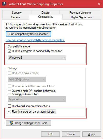Make sure that the administrator is not selected, if not deselect it and click ok.