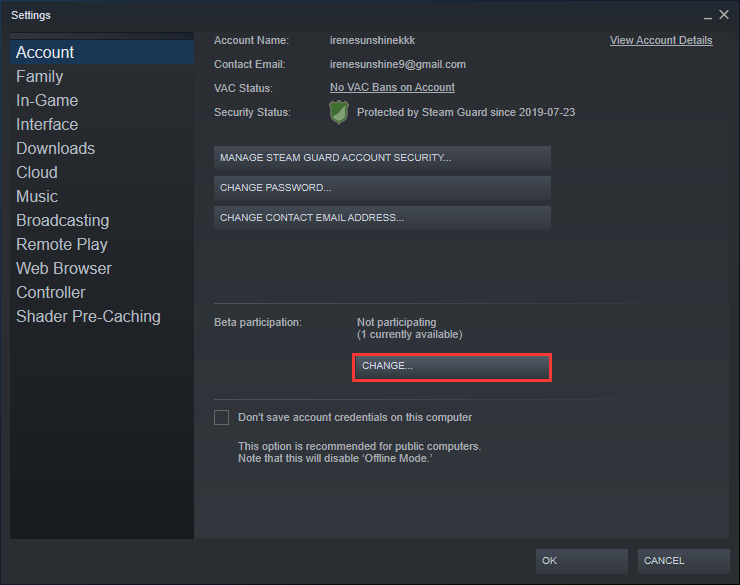 Drop out Beta Program in Steam