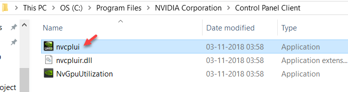 Launching the Nvidia Control Panel Manually